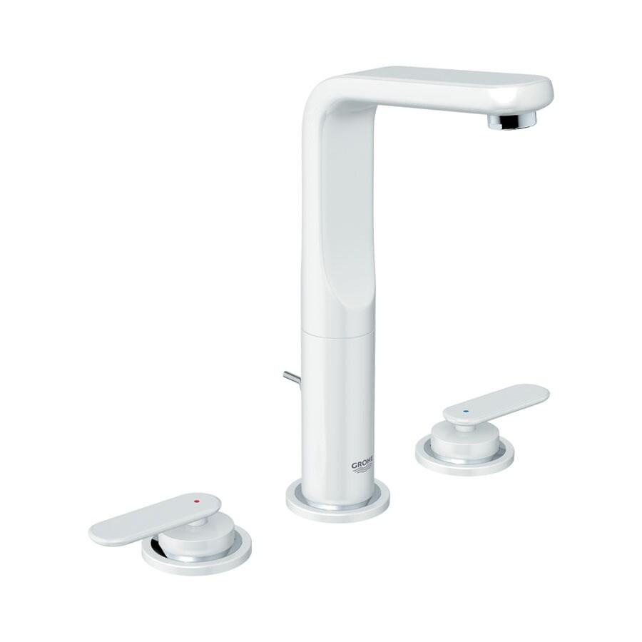 GROHE Ondus Veris Moon White 2-Handle Widespread WaterSense Bathroom Sink Faucet (Drain Included)