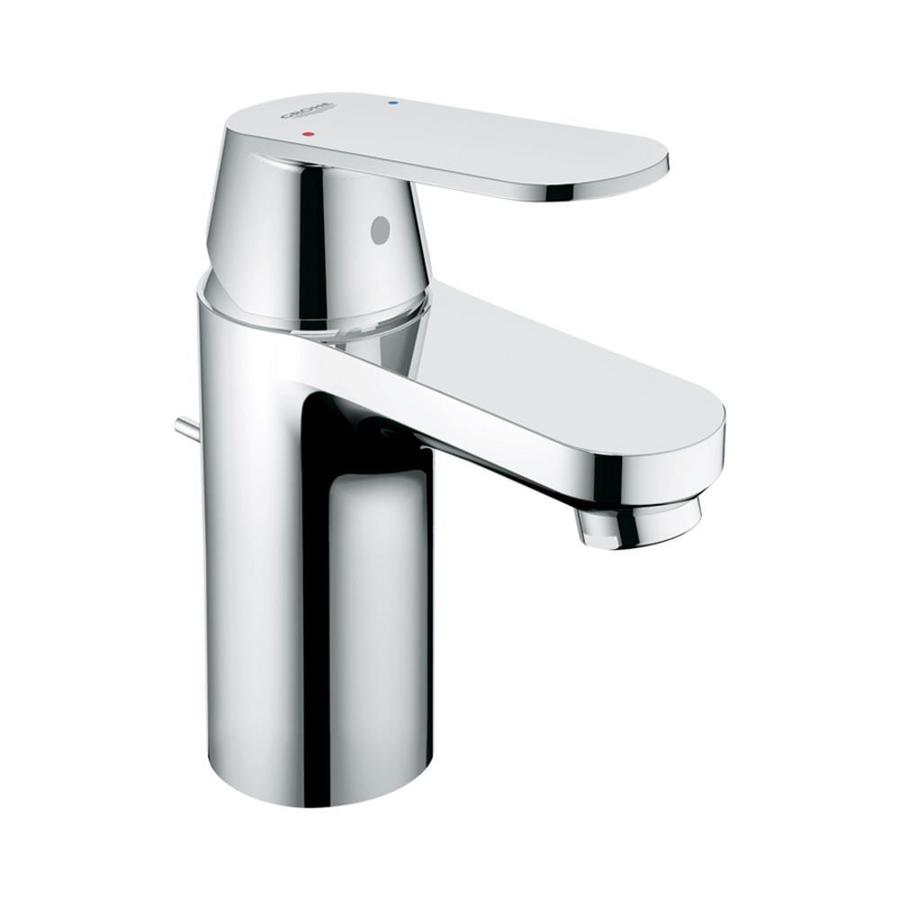 shop grohe eurosmart starlight chrome 1 handle single hole watersense bathroom faucet drain. Black Bedroom Furniture Sets. Home Design Ideas