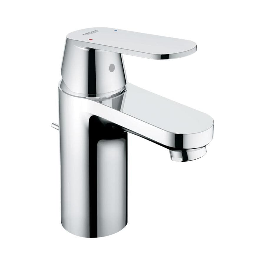 Single Lever Bathroom Faucets: Shop GROHE Eurosmart Starlight Chrome 1-Handle Single Hole