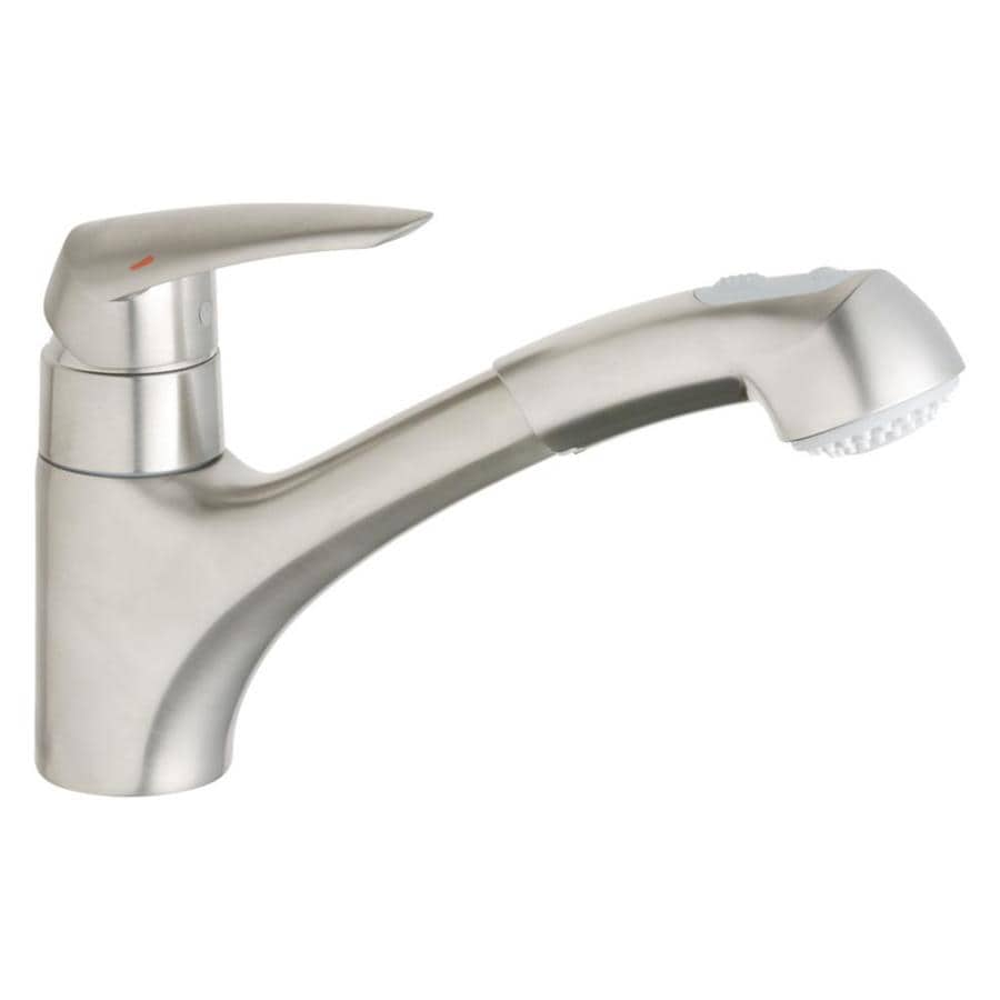 Shop grohe eurodisc starlight chrome 1 handle deck mount for Grohe faucets