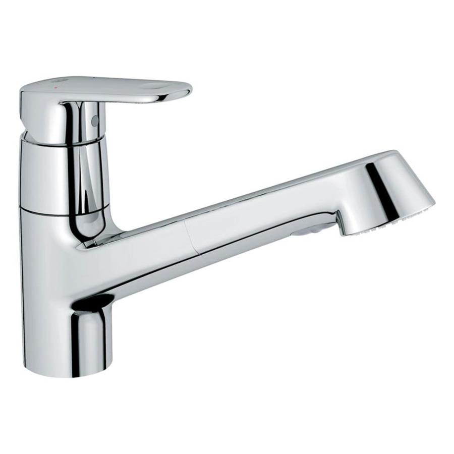 GROHE Europlus Starlight Chrome 1-Handle Pull-Out Kitchen Faucet
