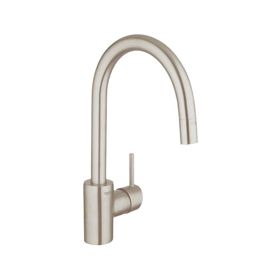 shop grohe concetto supersteel 1 handle pull down kitchen faucet grohe concetto supersteel 1 handle pull down kitchen faucet