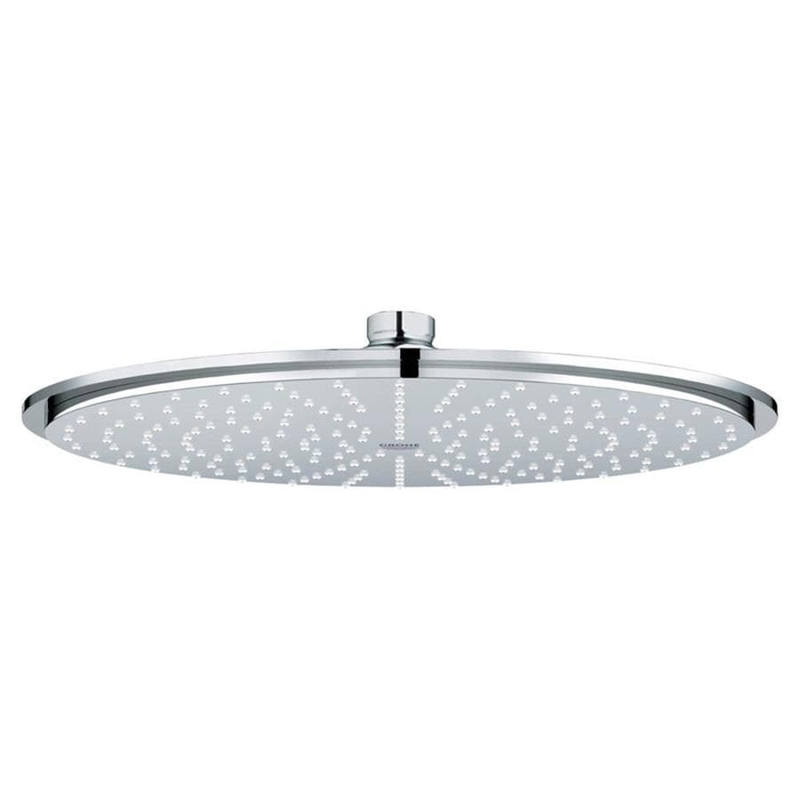 shop grohe rainshower starlight chrome 1-spray shower head at