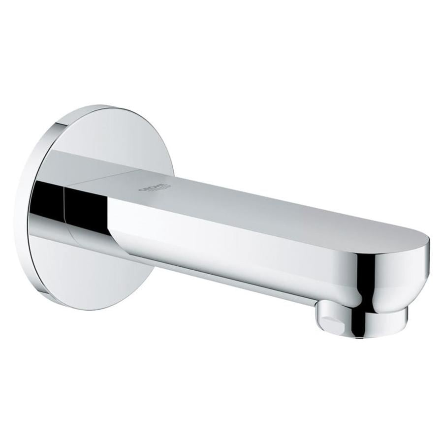 Shop Grohe Eurosmart Cosmopolitan Chrome 1 Handle Adjustable Wall Mount Bathtub Faucet At Lowes Com