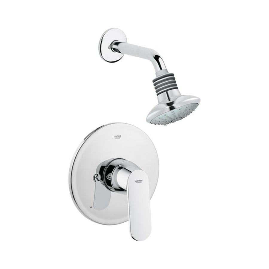 GROHE Eurosmart Starlight Chrome 1-Handle Shower Faucet Trim Kit with Multi-Function Showerhead