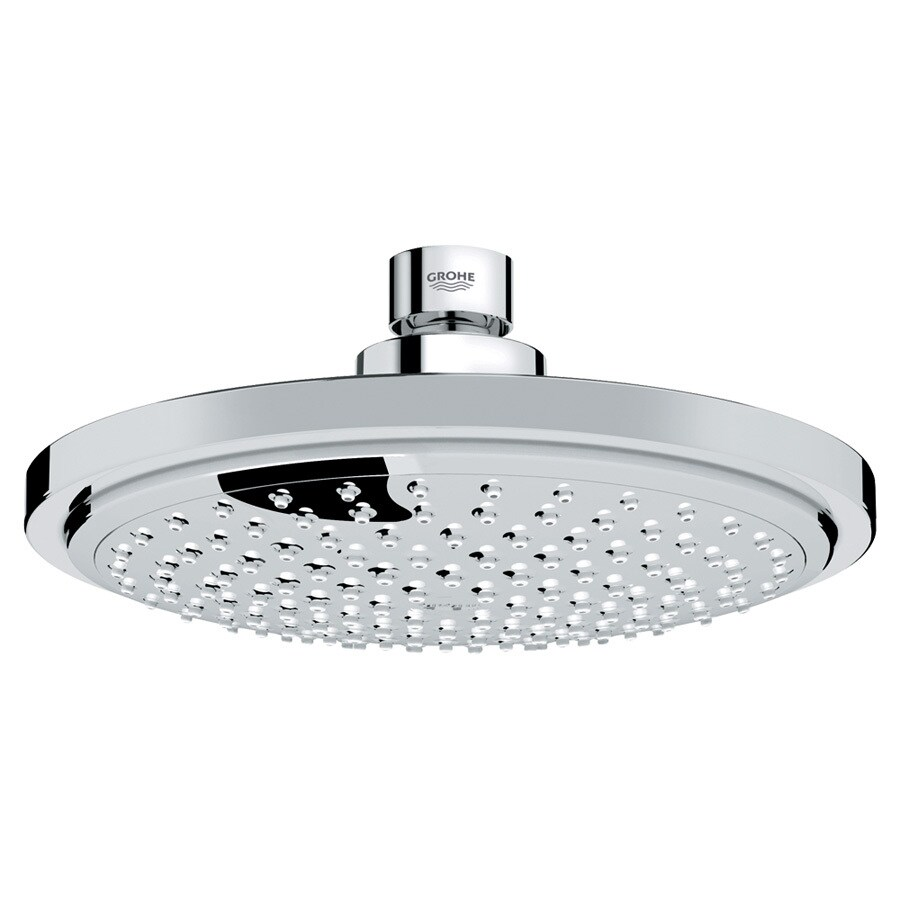 GROHE Euphoria 6.3125-in 2.5-GPM (9.5-LPM) Starlight Chrome 1-Spray Showerhead