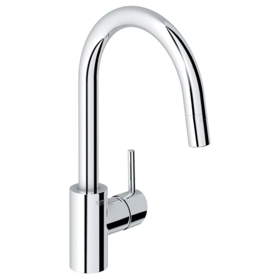 Shop GROHE Concetto StarLight Chrome 1-Handle Pull-Down Kitchen ...