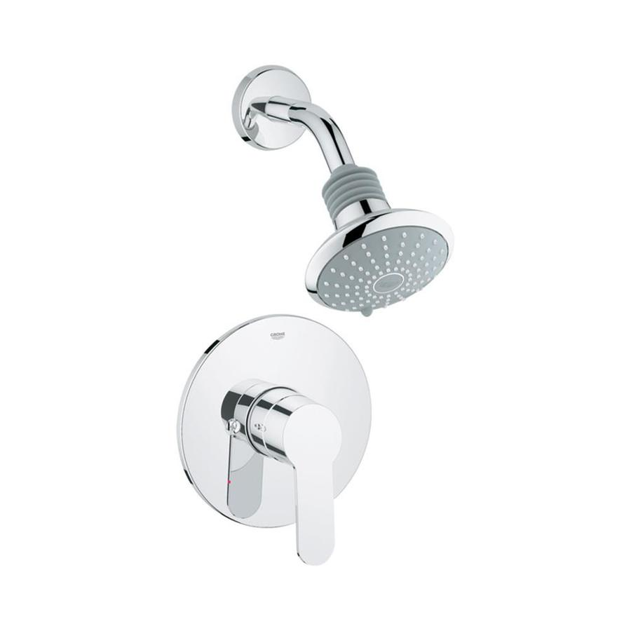 GROHE Eurostyle Starlight Chrome 1-Handle Shower Faucet Trim Kit with Multi-Function Showerhead