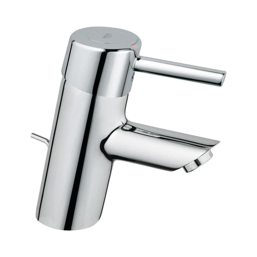 GROHE Concetto Starlight Chrome 1-Handle Single Hole WaterSense Bathroom Faucet (Drain Included)