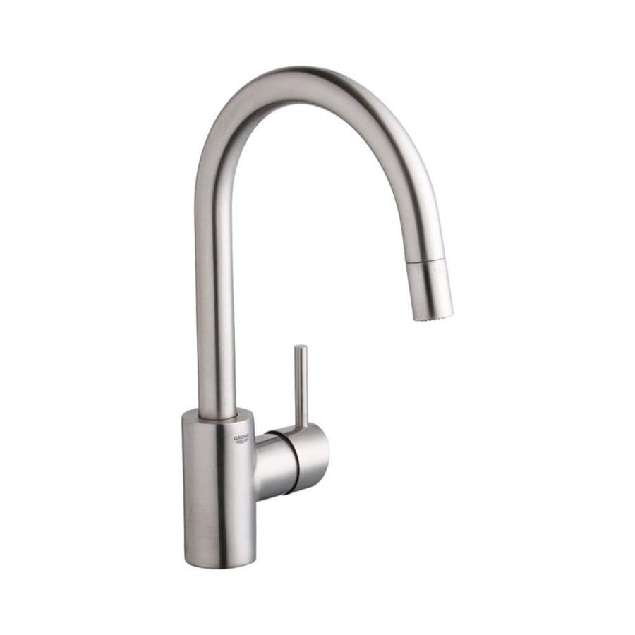GROHE Concetto SuperSteel 1-Handle Pull-Down Kitchen Faucet