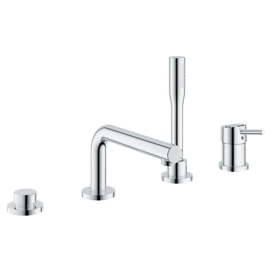 GROHE Concetto Starlight Chrome 1-Handle Fixed Deck Mount Bathtub Faucet