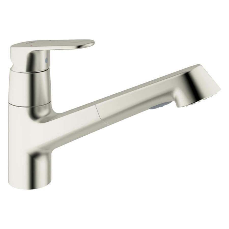 Merveilleux GROHE Europlus Starlight Chrome 1 Handle Deck Mount Pull Out Kitchen Faucet