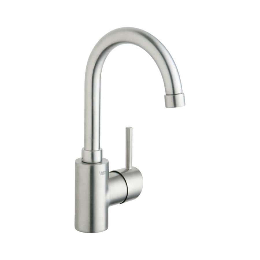 GROHE Concetto Brushed nickel 1-handle Single Hole Bathroom Faucet