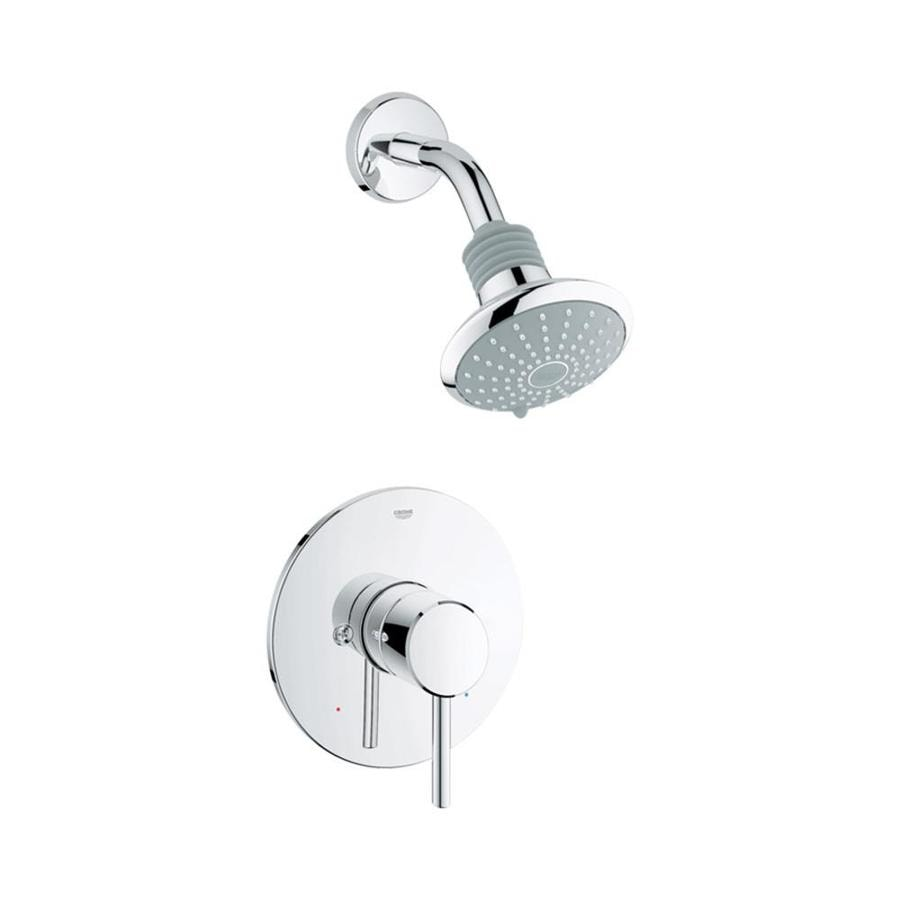 GROHE Concetto Starlight Chrome 1-Handle Shower Faucet Trim Kit with Single Function Showerhead