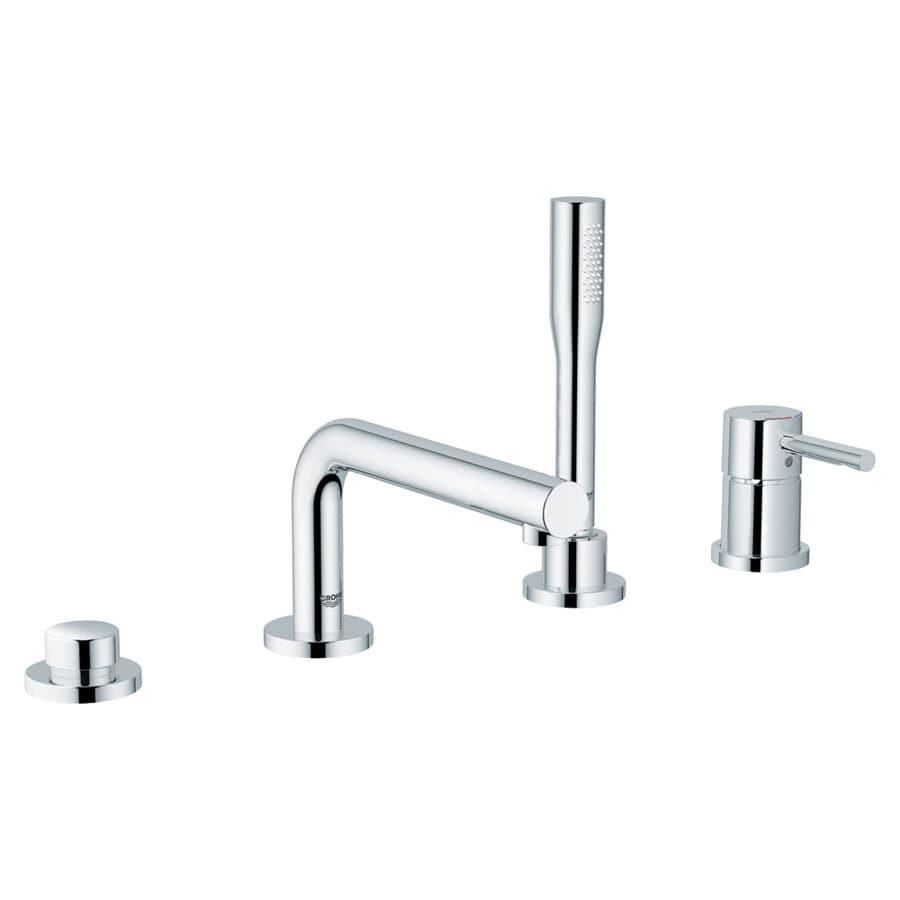Shop GROHE Essence Chrome 1-Handle Adjustable Deck Mount Tub Faucet at Lowes.com