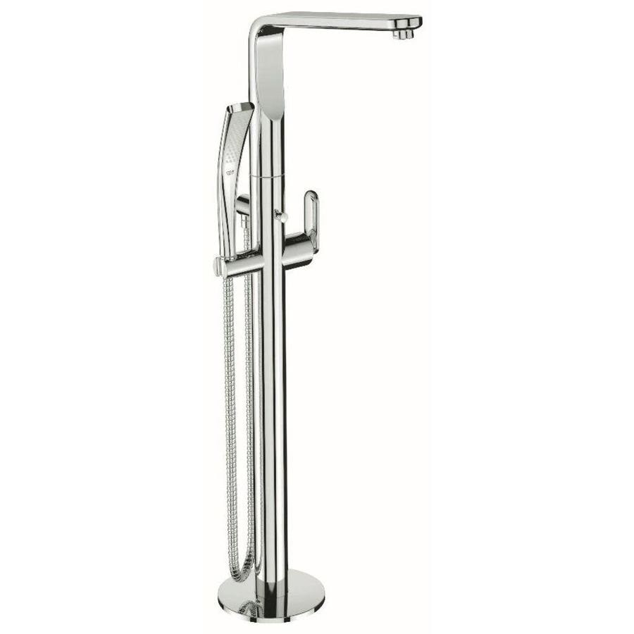 GROHE Veris Starlight Chrome 1-Handle Fixed Freestanding Tub Faucet