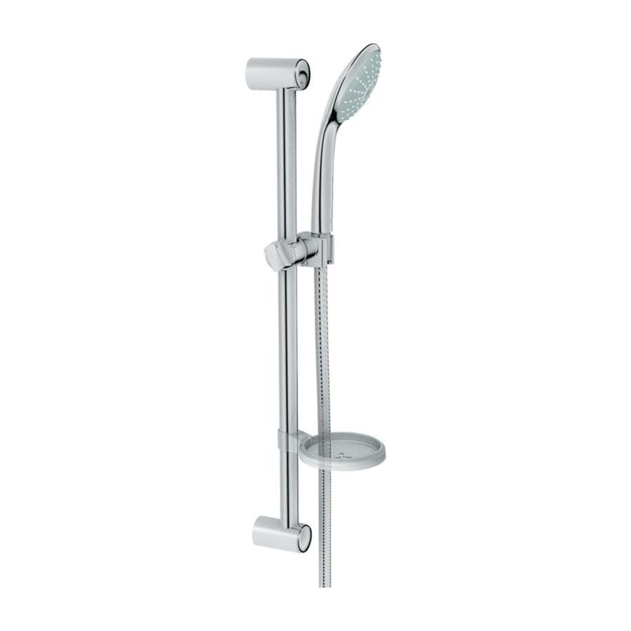 GROHE Euphoria 4.75-in 1.5-GPM (5.7-LPM) Starlight Chrome 1-Spray Hand Shower