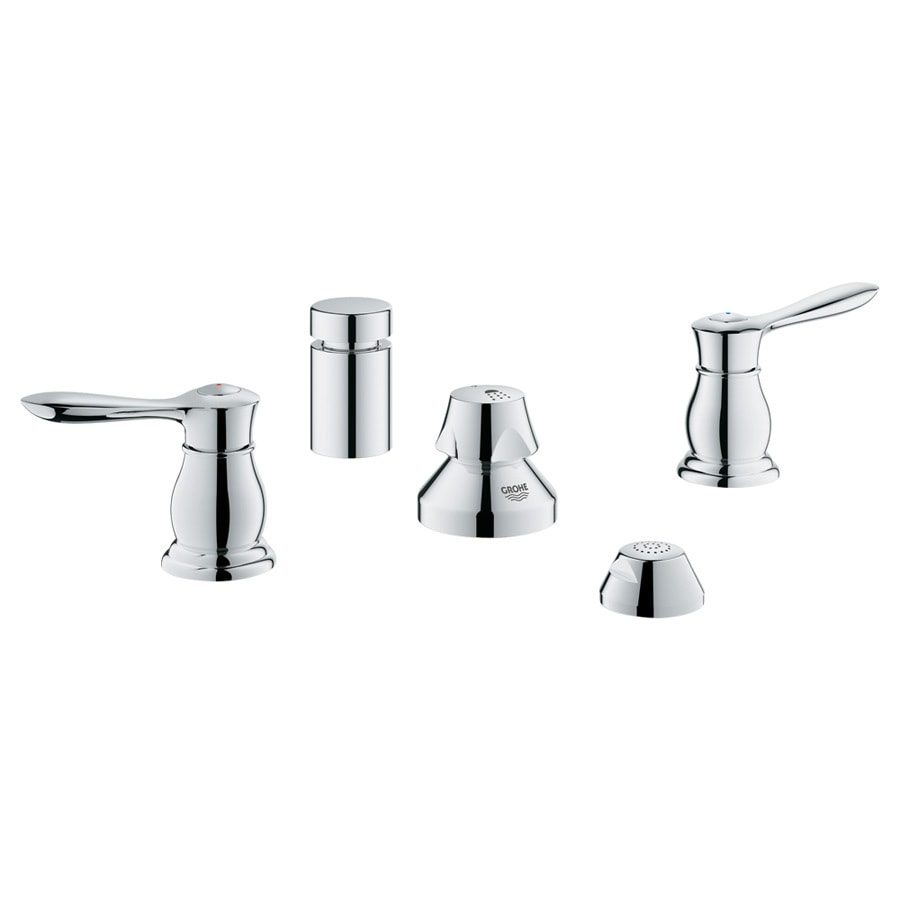 GROHE Parkfield Starlight Chrome Vertical Spray Bidet Faucet