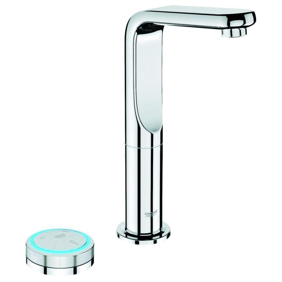 GROHE Veris F-Digital Starlight Chrome 1-Handle Single Hole Bathroom Faucet (Drain Included)