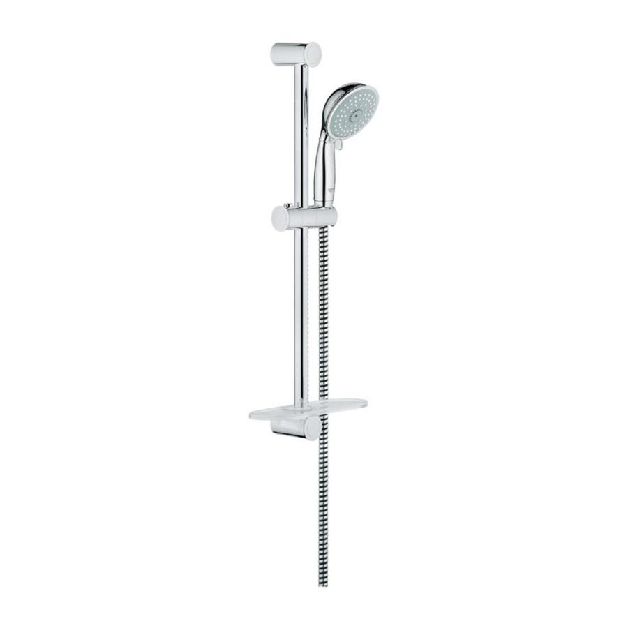GROHE New Tempesta 4-in 2.5-GPM (9.5-LPM) Starlight Chrome 4-Spray Hand Shower