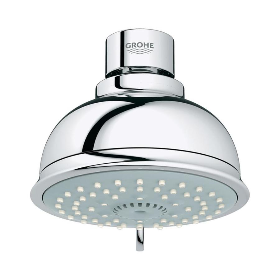 GROHE Tempesta 4-in 2.5-GPM (9.5-LPM) Starlight Chrome 4-Spray Showerhead