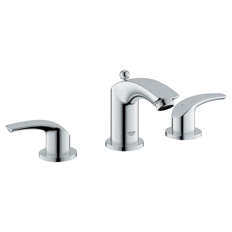 grohe eurosmart cosmopolitan chrome 2 handle widespread bathroom faucet at. Black Bedroom Furniture Sets. Home Design Ideas