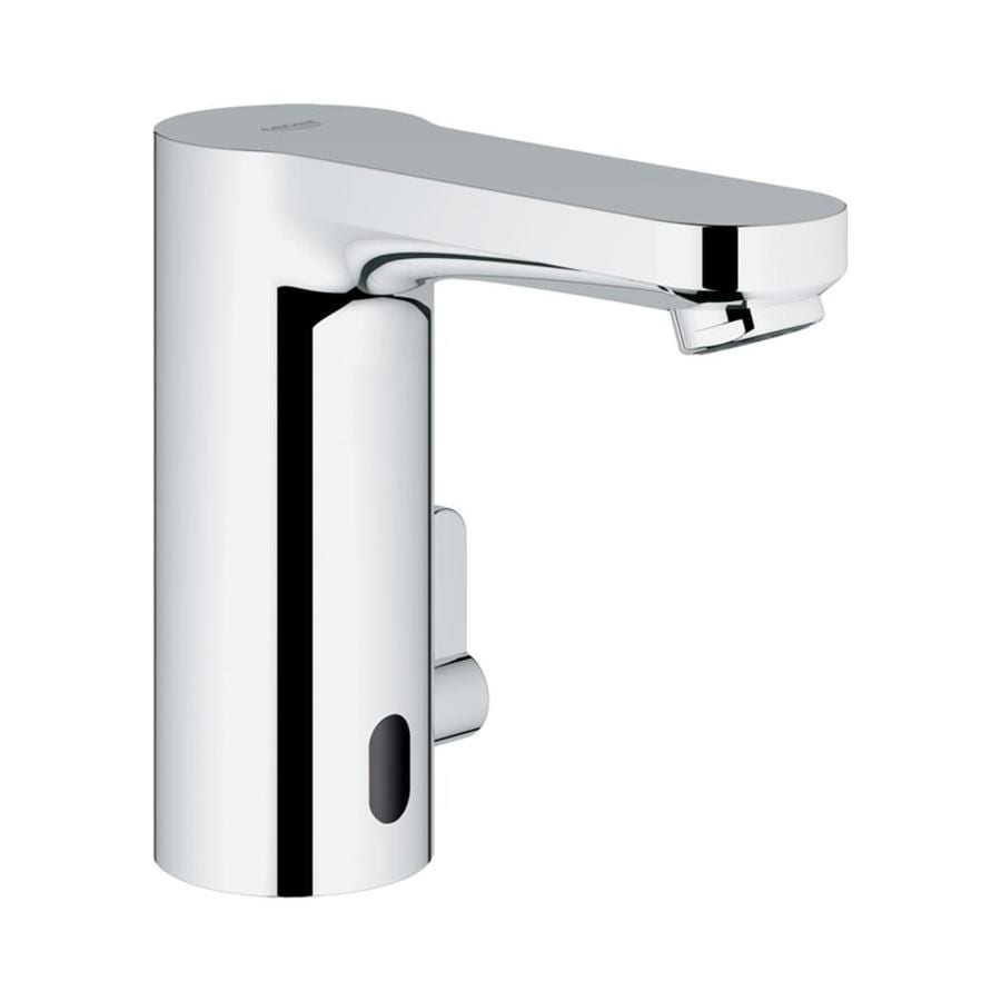 Shop GROHE Eurosmart Starlight Chrome Touchless Single Hole Bathroom ...