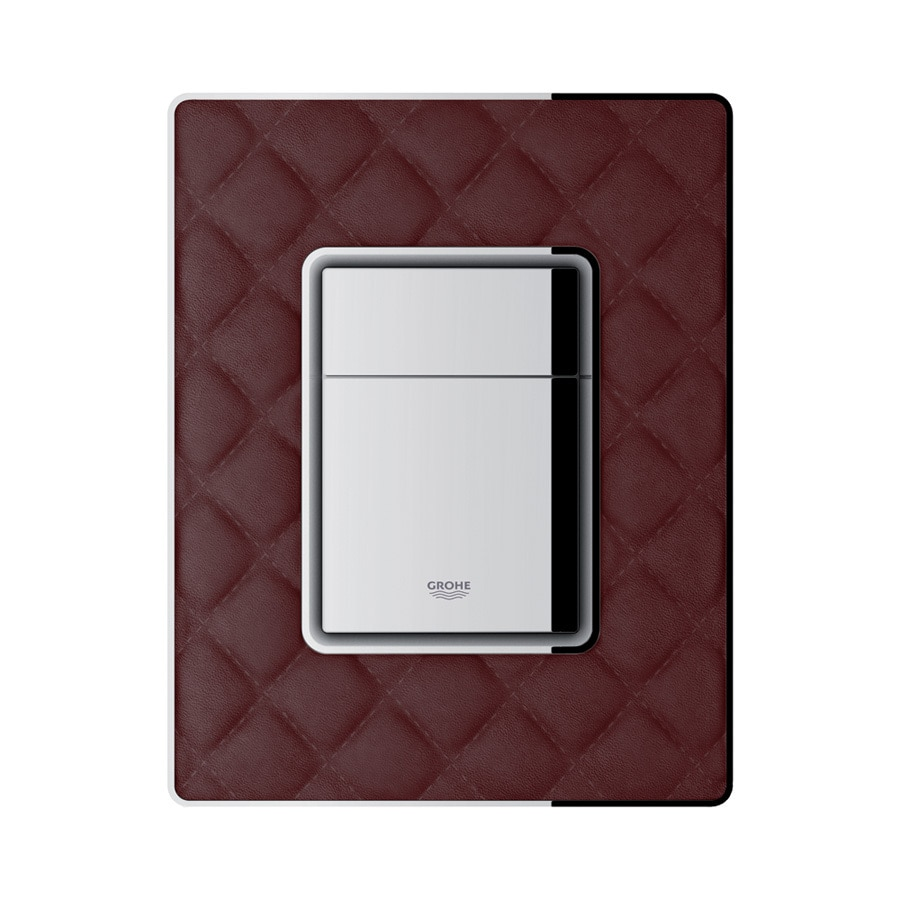 GROHE Red ABS with Leather Surface Flush Actuator