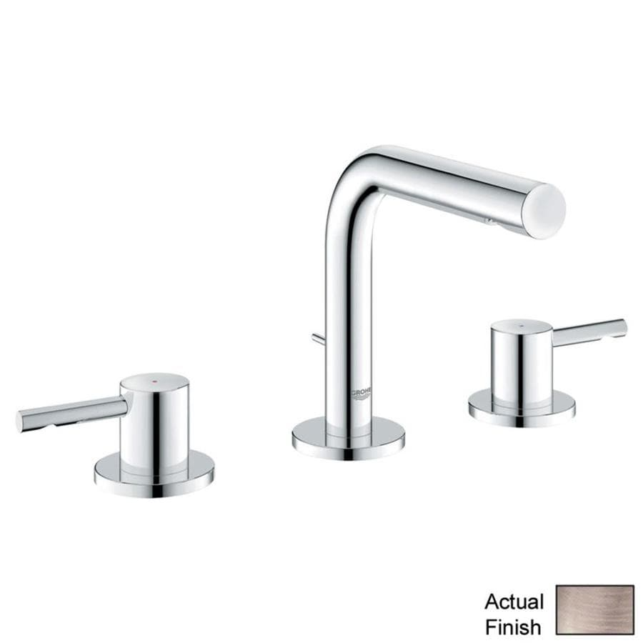 Shop GROHE Essence Brushed nickel 2-handle Widespread Bathroom ...
