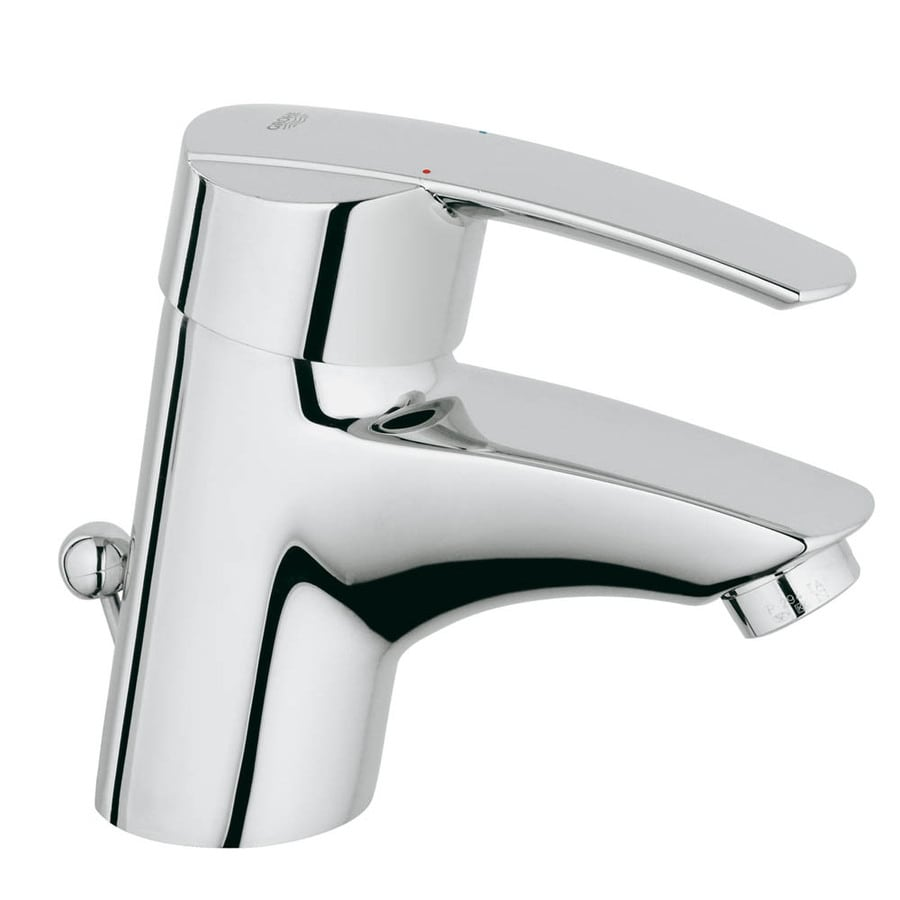 GROHE Start Starlight Chrome 1-Handle Single Hole Bathroom Faucet (Drain Included)