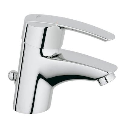 Start Starlight Chrome 1-Handle Single Hole Bathroom Faucet (Drain Included)
