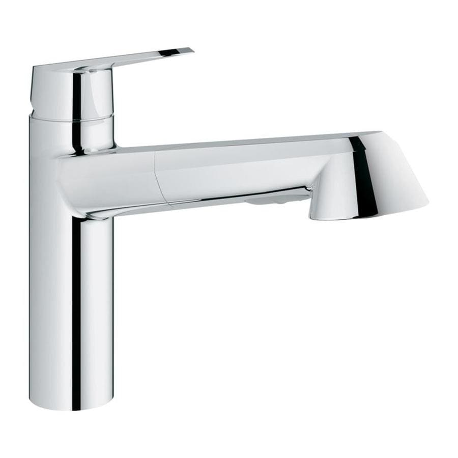 shop grohe eurodisc starlight chrome 1 handle pull out kitchen faucet at. Black Bedroom Furniture Sets. Home Design Ideas