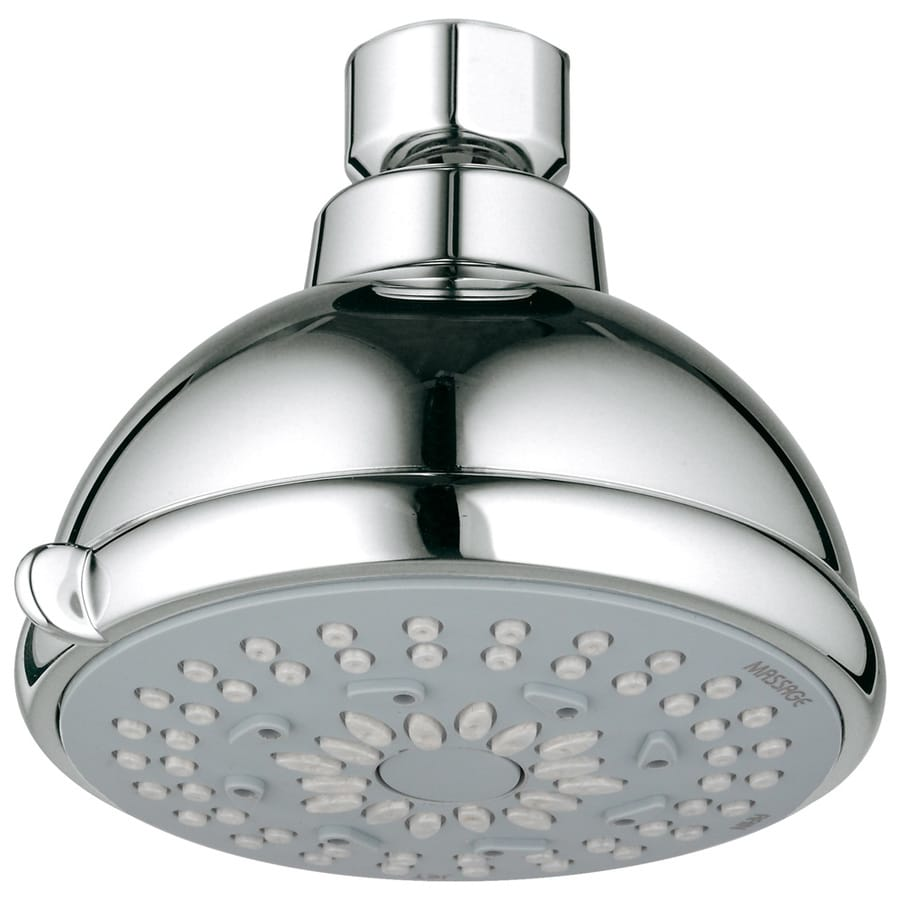 GROHE Bau Contemporary 3.778-in 2.5-GPM (9.5-LPM) Starlight Chrome 3-Spray Showerhead
