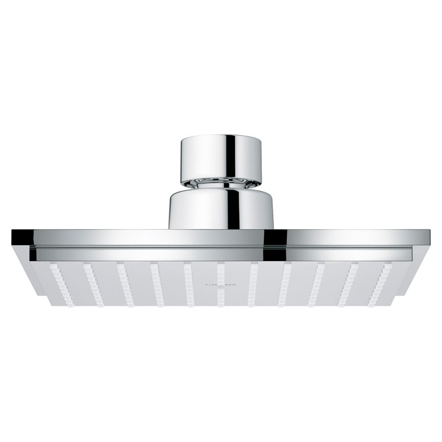 GROHE Euphoria 6-in 2.5-GPM (9.5-LPM) Starlight Chrome 1-Spray Rain Showerhead
