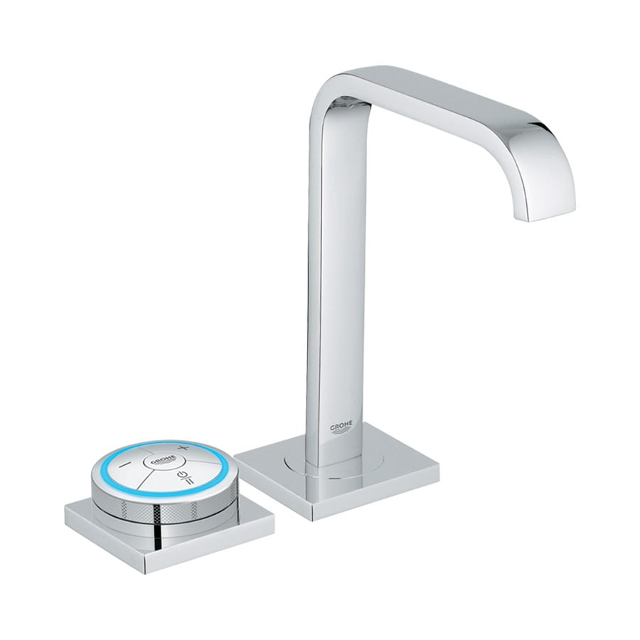 GROHE Allure F-Digital StarLight Chrome 1-Handle Single Hole Bathroom Faucet (Drain Included)