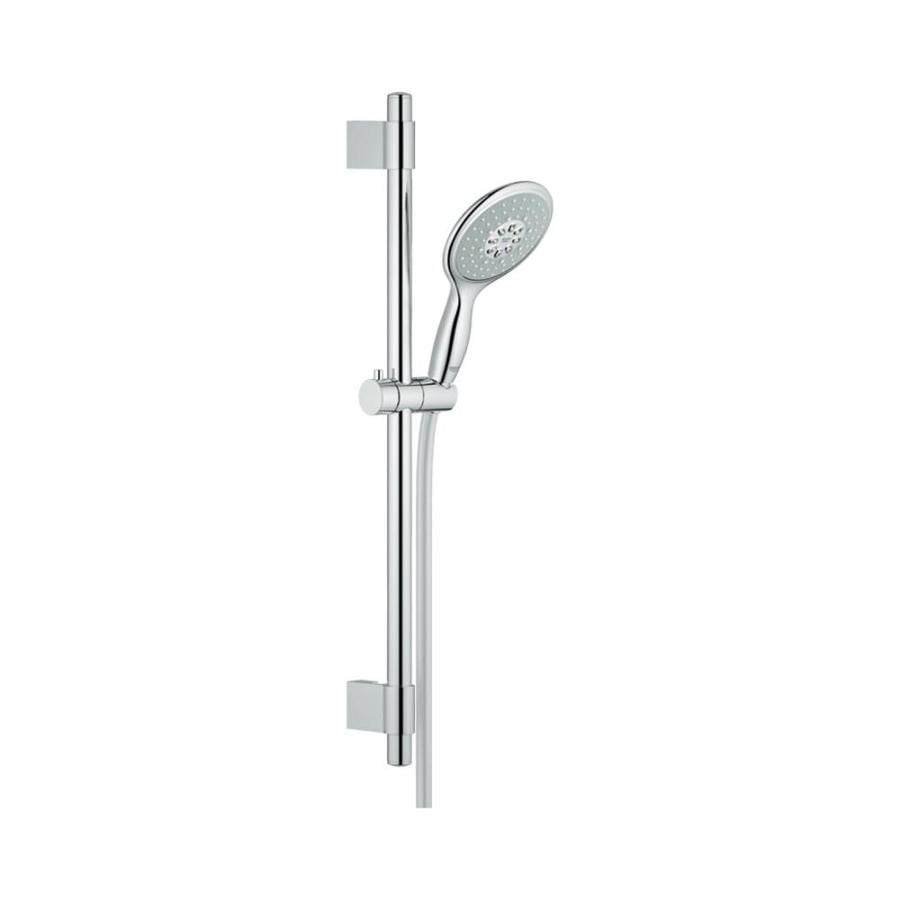 GROHE Power&Soul 5-in 2.5-GPM (9.5-LPM) Starlight Chrome 4-Spray Hand Shower