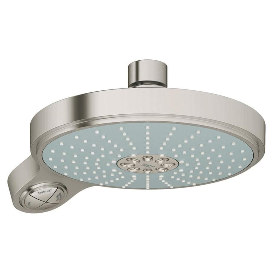 GROHE Power&Soul 7.5-in 2.5-GPM (9.5-LPM) Brushed Nickel 4-Spray Showerhead