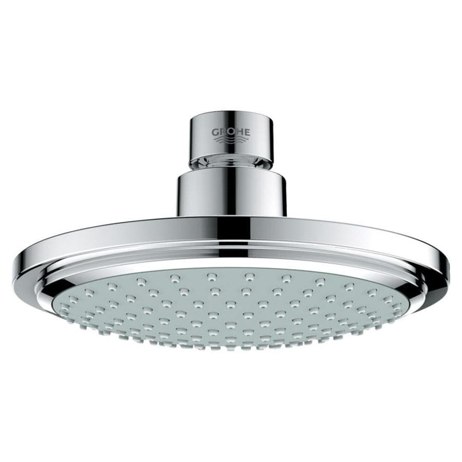 GROHE Euphoria 6.3125-in 2.0-GPM (7.6-LPM) Starlight Chrome 1-Spray WaterSense Showerhead
