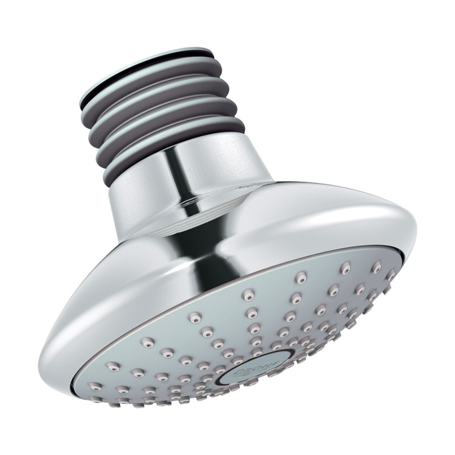 GROHE Euphoria 4.625-in 2.0-GPM (7.6-LPM) Starlight Chrome 1-Spray WaterSense Showerhead