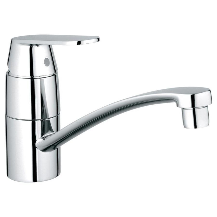 GROHE Eurosmart Starlight Chrome 1-handle Low-arc Deck Mount Kitchen Faucet