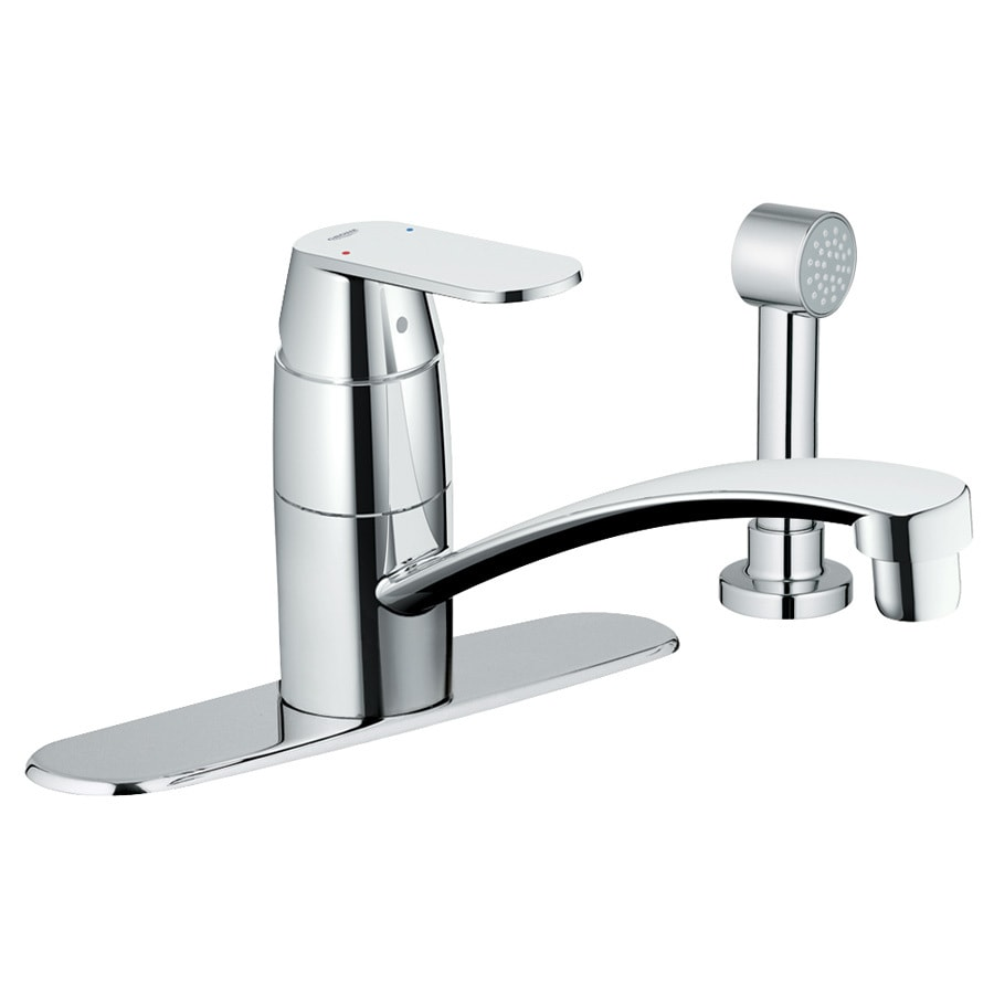 GROHE Eurosmart Starlight Chrome 1-Handle Low-Arc Kitchen Faucet