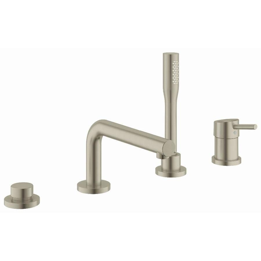 GROHE Concetto Brushed Nickel 1-Handle Fixed Deck Mount Bathtub Faucet