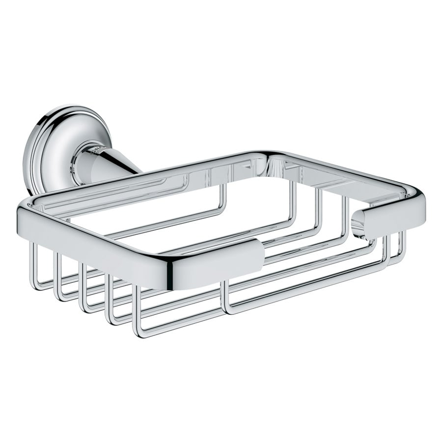 GROHE Essentials Authentic Starlight Chrome Brass Soap Dish