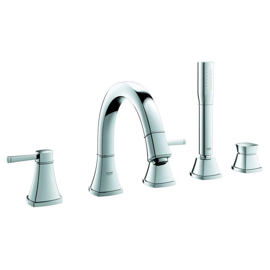 GROHE Grandera Starlight Chrome 2-Handle Deck Mount Bathtub Faucet