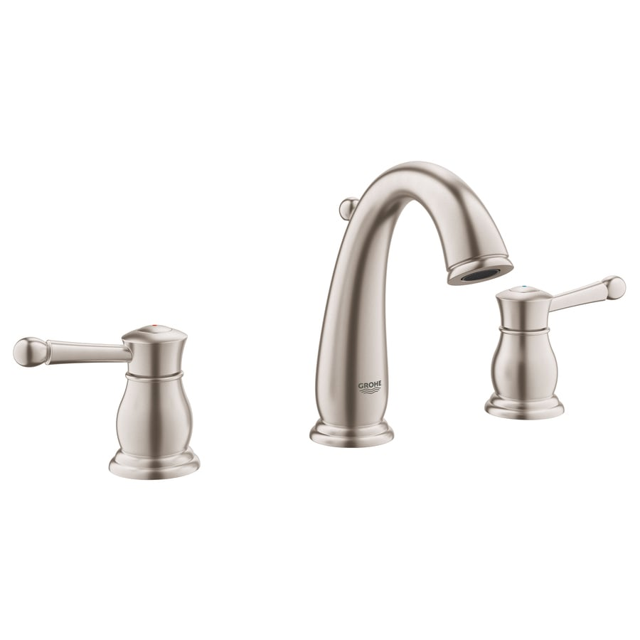 Charmant GROHE Wexford Brushed Nickel 2 Handle Widespread WaterSense Bathroom Faucet  (Drain Included)