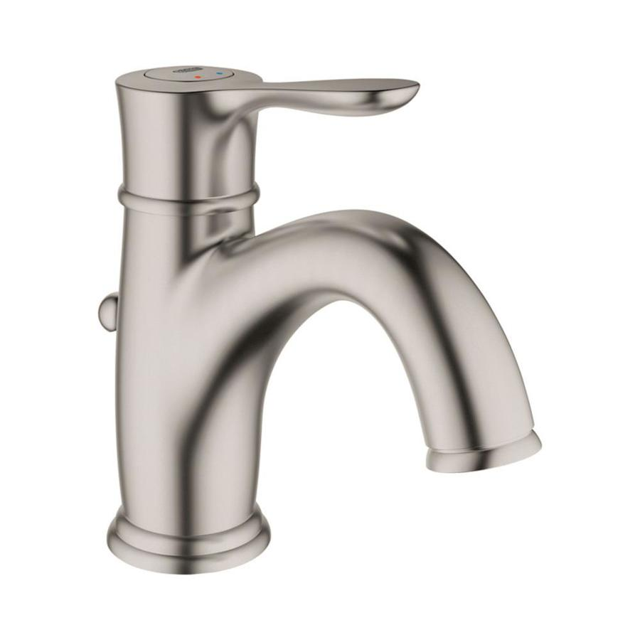 GROHE Parkfield Brushed Nickel 1-handle Single Hole Bathroom Faucet