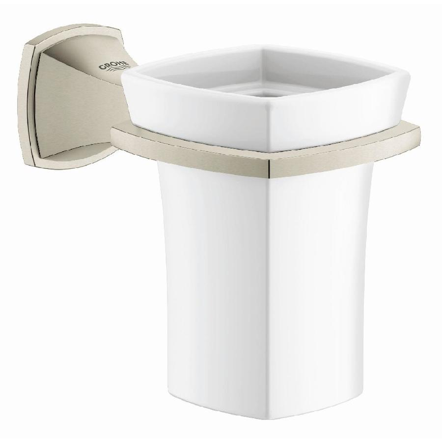 GROHE Grandera Brushed Nickel Infinity Ceramic Tumbler