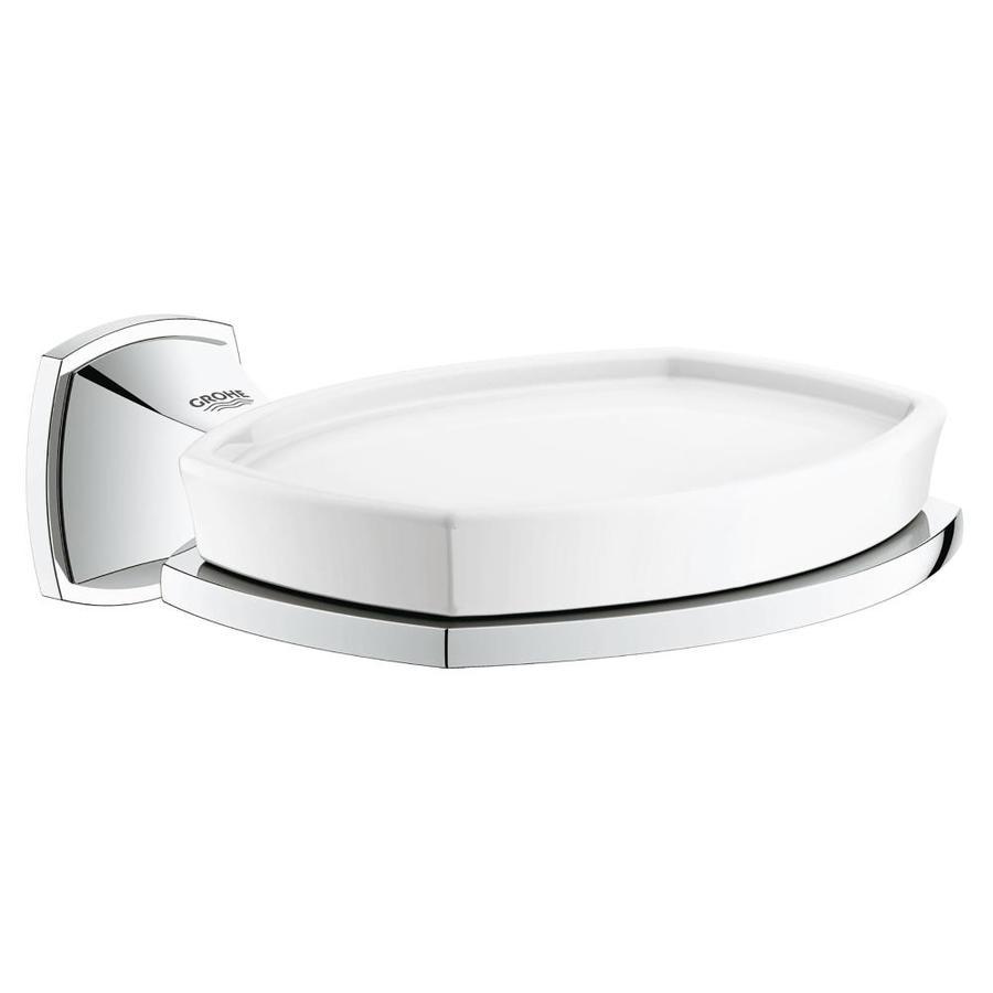 GROHE Grandera Starlight Chrome Ceramic Soap Dish