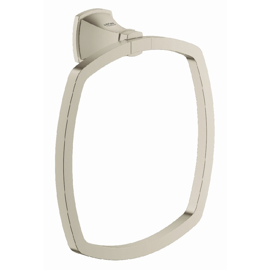 GROHE Grandera Brushed Nickel Infinity Wall Mount Towel Ring