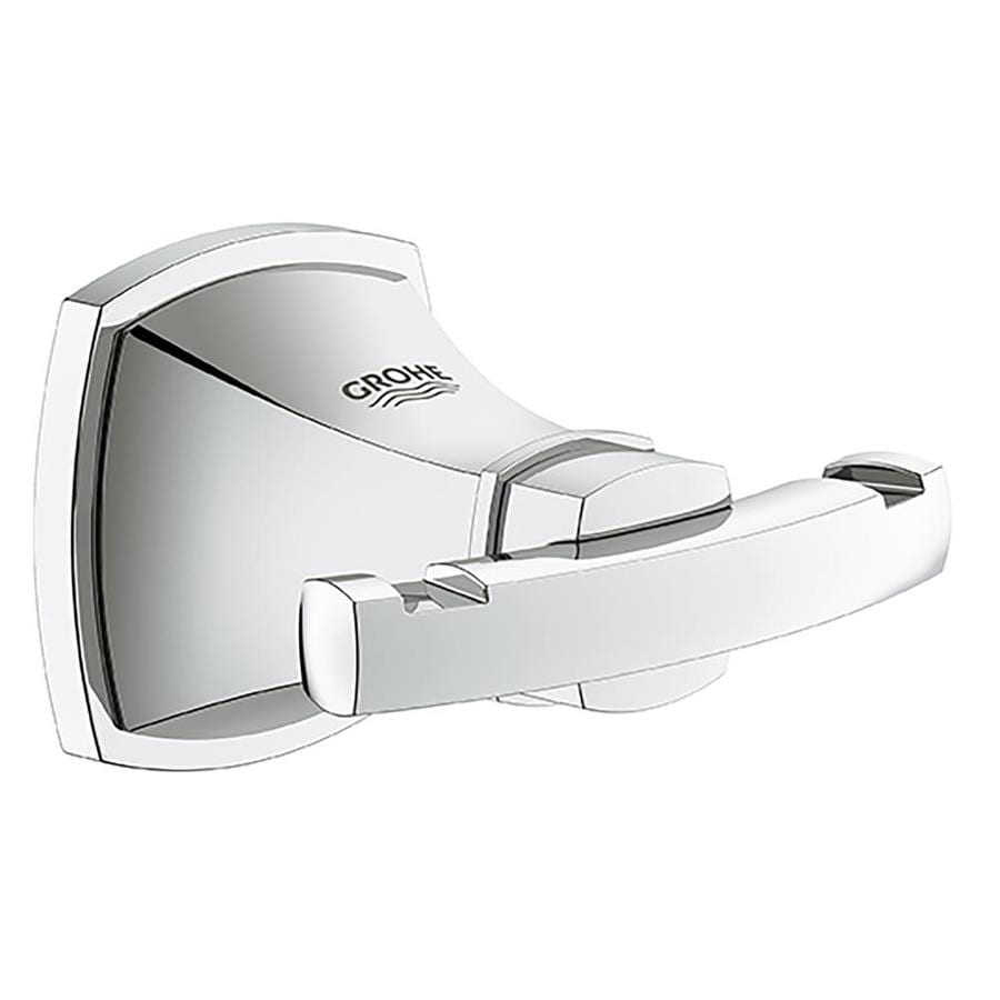 GROHE Grandera 2-Hook Starlight Chrome Robe Hook